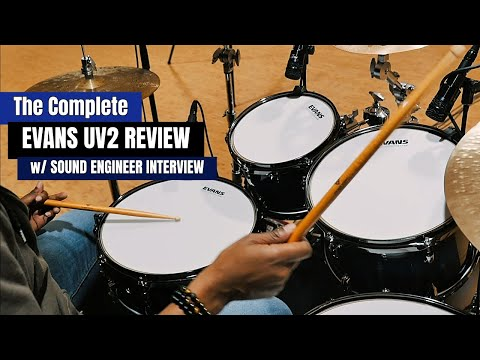 The Complete EVANS UV2 REVIEW W/ Sound Engineer Interview & FREE DRUM MIX SAMPLE 🎧🥁