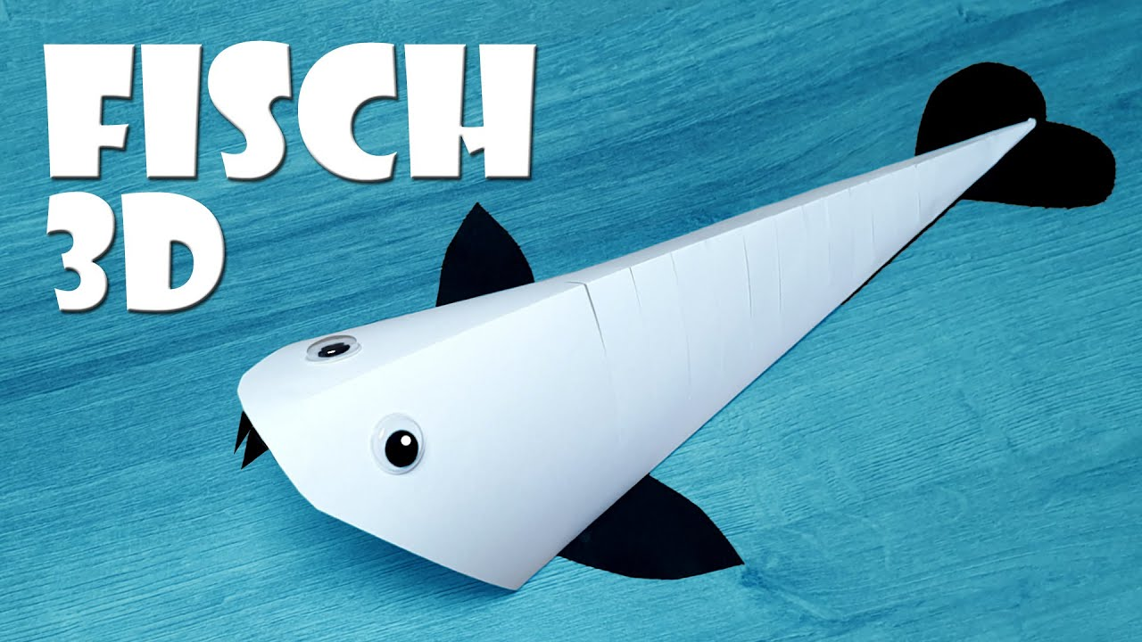 basteln 3d fisch basteln how to make moving fish youtube. Black Bedroom Furniture Sets. Home Design Ideas