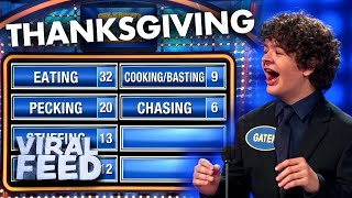 CELEBRITY FAMILY FEUD CELEBRATES THANKSGIVING | VIRAL FEED