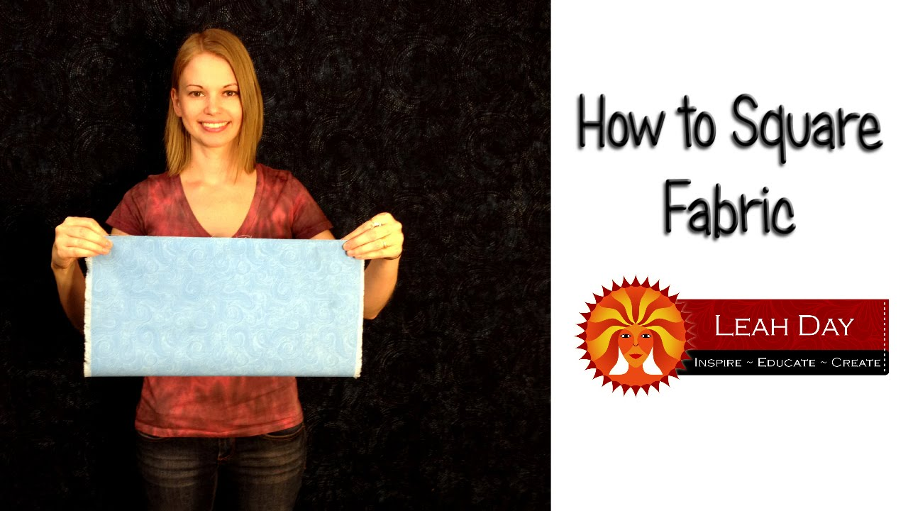How to Square Fabric for Quilting - YouTube : cutting fabric for quilting - Adamdwight.com