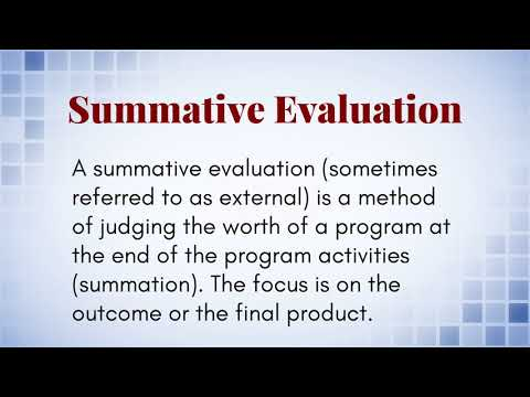 What Is The Difference Between Formative And Summative Evaluation