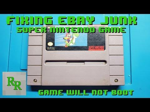 SNES Game Won't Boot - Fixing EBay Junk - Super Mario World
