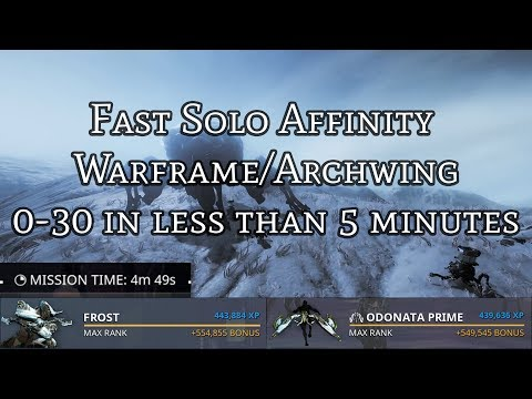 Fast Solo Affinity - Warframe & Archwing - Rank 30 in 5 Minutes. thumbnail