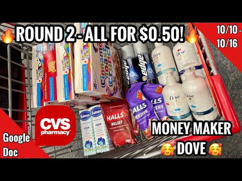 CVS Free & Cheap Coupon Deals & Haul | ROUND 2! | 10/10 – 10/16 | More FREEBIES! $0.50 HAUL 🥰  🙌🏽