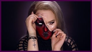 DEMON - Pulled Up Skin Halloween Makeup Tutorial thumbnail