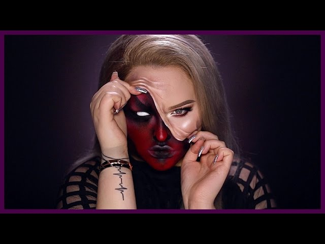 DEMON - Pulled Up Skin Halloween Makeup Tutorial