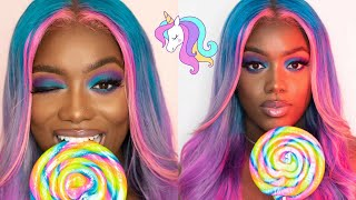 Cotton Candy Inspired Unicorn Hair| Watercolor Method | Divatress.com