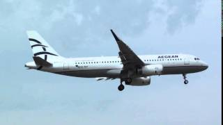 Aegean Airbus 320WL SX-DGY Landing London Heathrow 09L