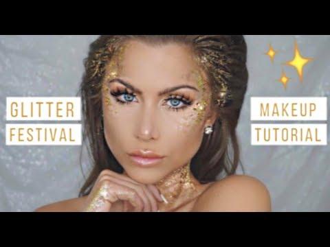 Glitter makeup tutorial Halloween costume | BeeisforBeeauty