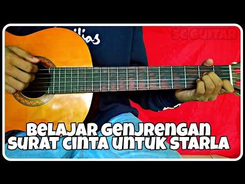 Belajar gitar (VIRGOUN-SURAT CINTA UNTUK STARLA) genjrengan mudah
