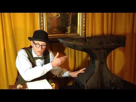 Comedian Martin Soan auctions off his prop anvil