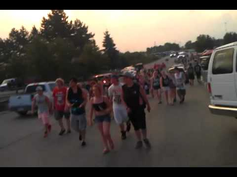 Walking out from Warped Tour @ The Palace of Auburn Hills MI 2013