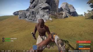 Rust Social Experiment - Giving a random player a gun