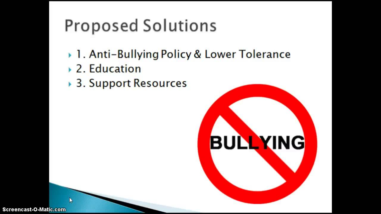Proposing a solution essay on bullying