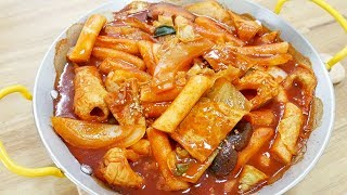 분식 떡볶이 ( Stir fried Rice Cake )