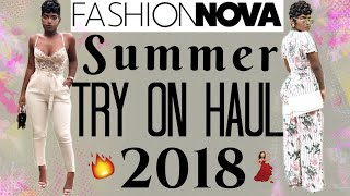 MOST LIT FASHION NOVA TRY ON HAUL EVER FT. MY SUMMER MUSIC PLAYLIST | iDESIGN8