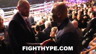 TYSON FURY MEETS MIKE TYSON, THE HEAVYWEIGHT LEGEND HE WAS NAMED AFTER