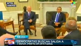 US: Democrat leaders meet with Obama to analyse proposals