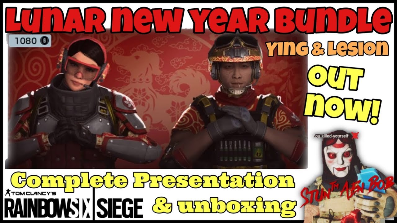 LUNAR NEW YEAR BUNDLE for YING   LESION - complete PRESENTATION   UNBOXING-  Rainbow six siege 437ec8d46