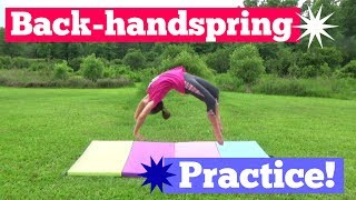 Zapętlaj Trying to perfect my back-handspring | BHS Clean-up! | Lyd\'s Vyds