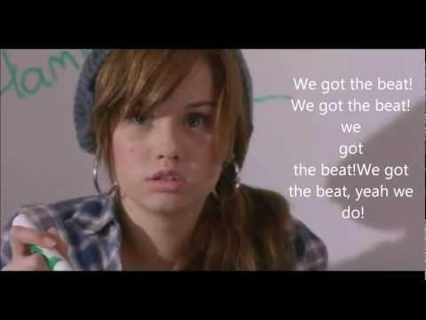 Debby Ryan We got the beat with lyrics! FULL SONG!