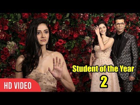 Ananya Panday with Karan Johar at Deepika-Ranveer Wedding Reception Party | Student of the Year 2