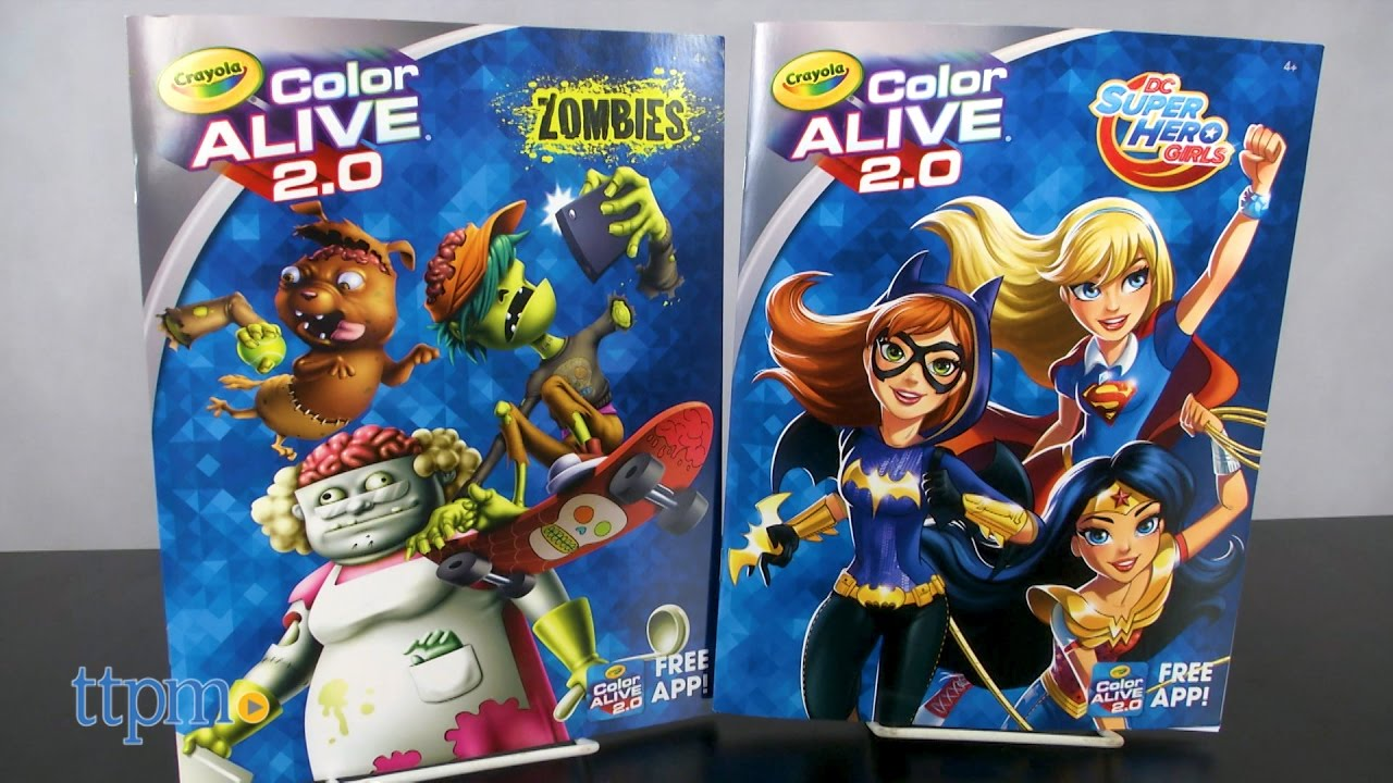 Zombie Princess Coloring Pages : Color alive 2.0 zombies & dc super hero girls from crayola youtube
