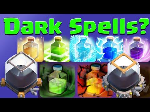 Clash of Clans Dark ELIXIR SPELLS, Dark Spell Factory? Clash of Clans ideas