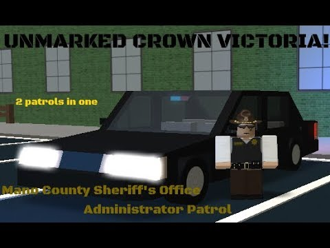 MCSO Unmarked Crown Vic | Mano County Administrator Patrol
