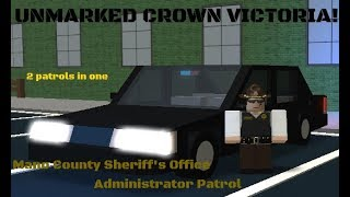 MCSO Unmarked Crown Vic   Mano County Administrator Patrol