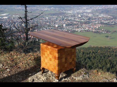 Holztisch Wohnzimmertisch table wood design table upcycling DIY selber machen do it yourself
