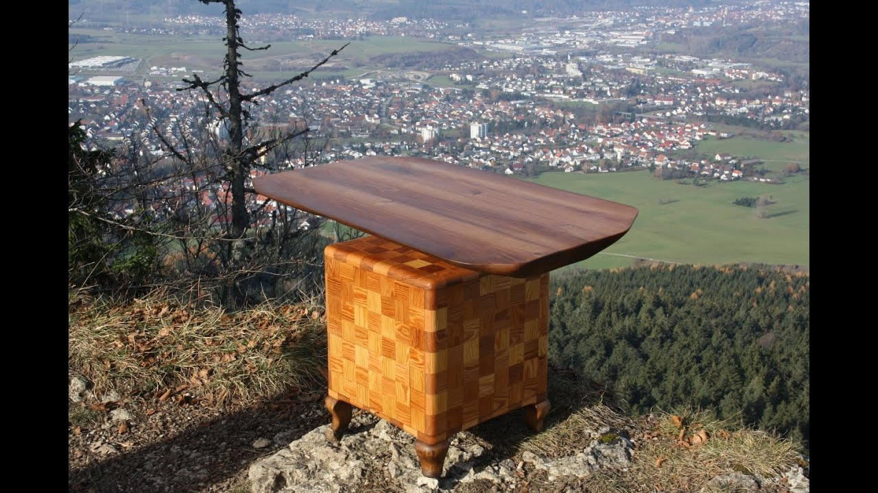 Holztisch wohnzimmertisch table wood design table for Wohnzimmertisch do it yourself