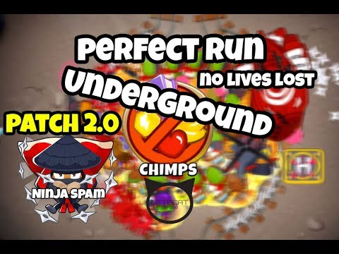 Bloons TD6 Underground CHIMPS Mode Perfect Run