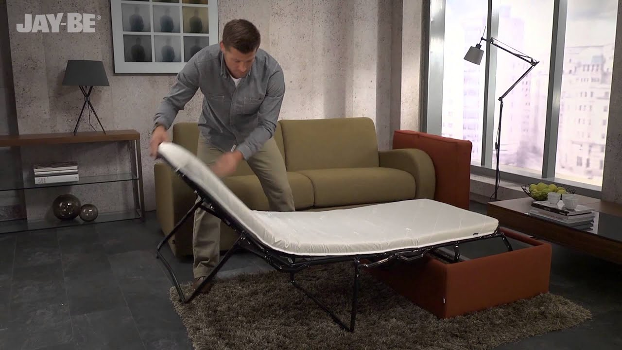Jay Be Footstool Sofa Bed With Airflow Fibre Mattress