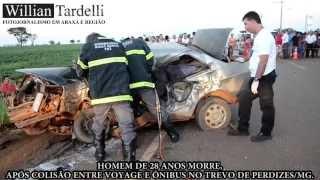Comando 190 Araxá - Homem de 28 anos morre em acidente no trevo de Perdizes/MG.