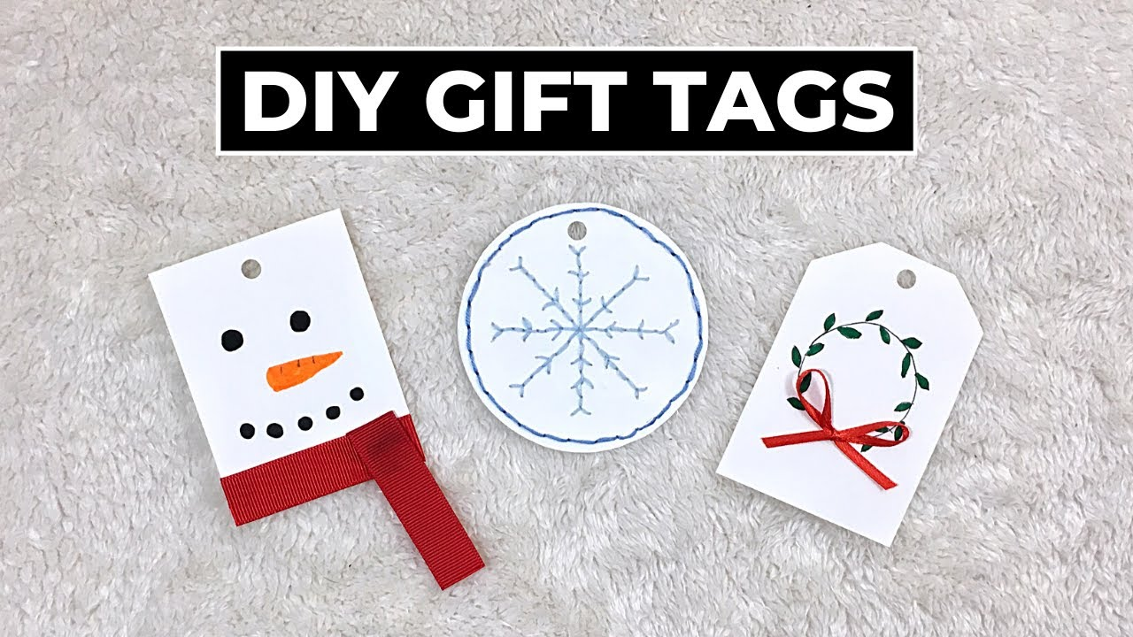 3 Diy Christmas Gift Tag Ideas Youtube