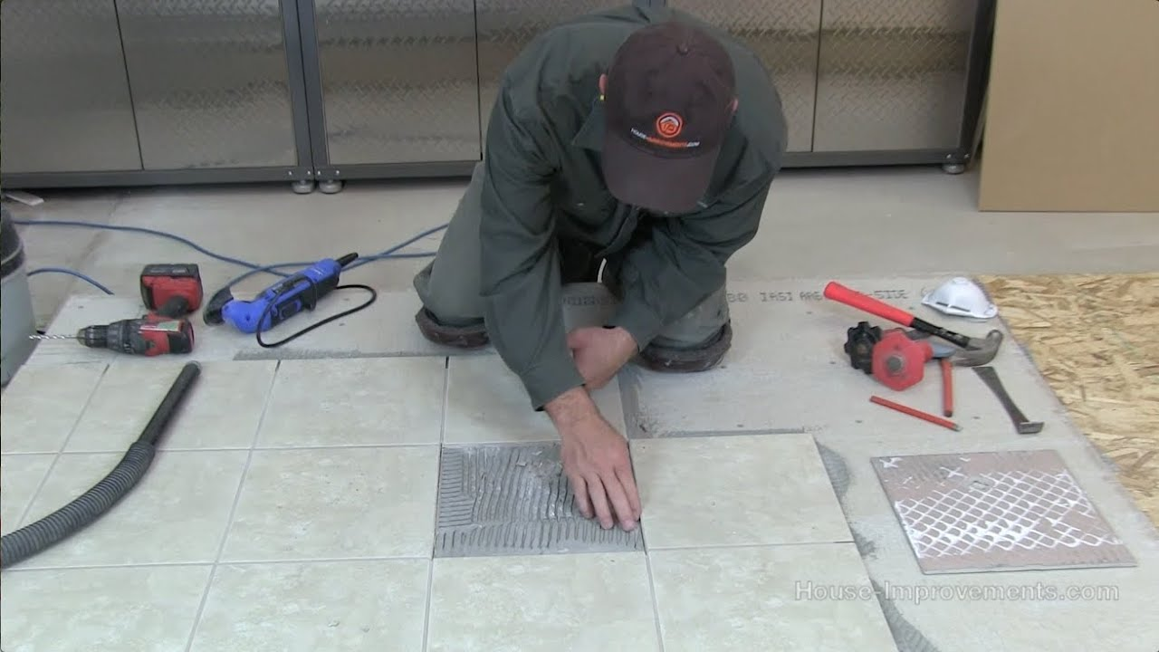 How To Replace A Single Cracked Broken Floor Tile   YouTube