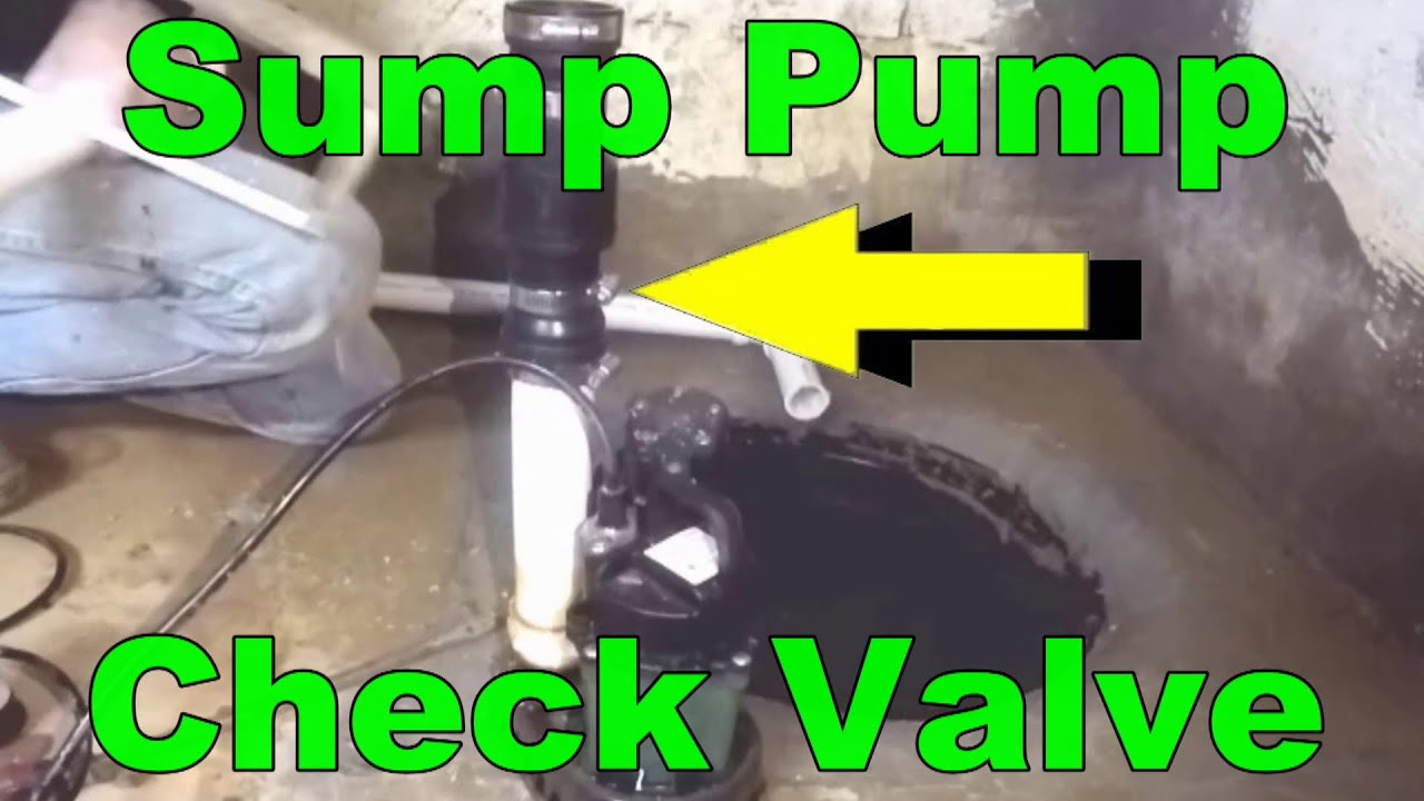 How To Add Check Valve To Your Sump Pump Youtube