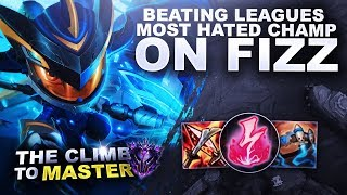 BEATING LEAGUES MOST HATED CHAMP ON FIZZ! - Climb to Master S9 | League of Legends