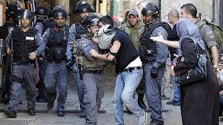 احتجاجات الفلسطينيين تمتد إلى مدن في الضفة إثر الصدامات في المسجد الأقصى