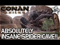 STEEL Upgrades, ABSOLUTELY INSANE Spider Cave... Spider BOSS Cave?!? - Conan Exiles Gameplay Part 15