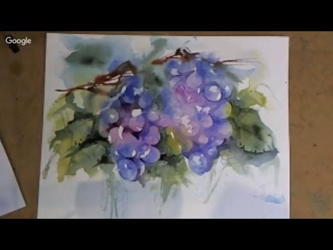 Live Broadcast Loose Watercolours 'Floral Walls' with Andrew Geeson