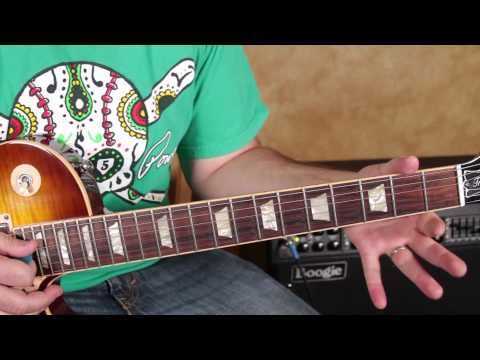 Rick Derringer - Rock and Roll Hoochie Koo - How to Play on Electric Guitar classic rock les paul