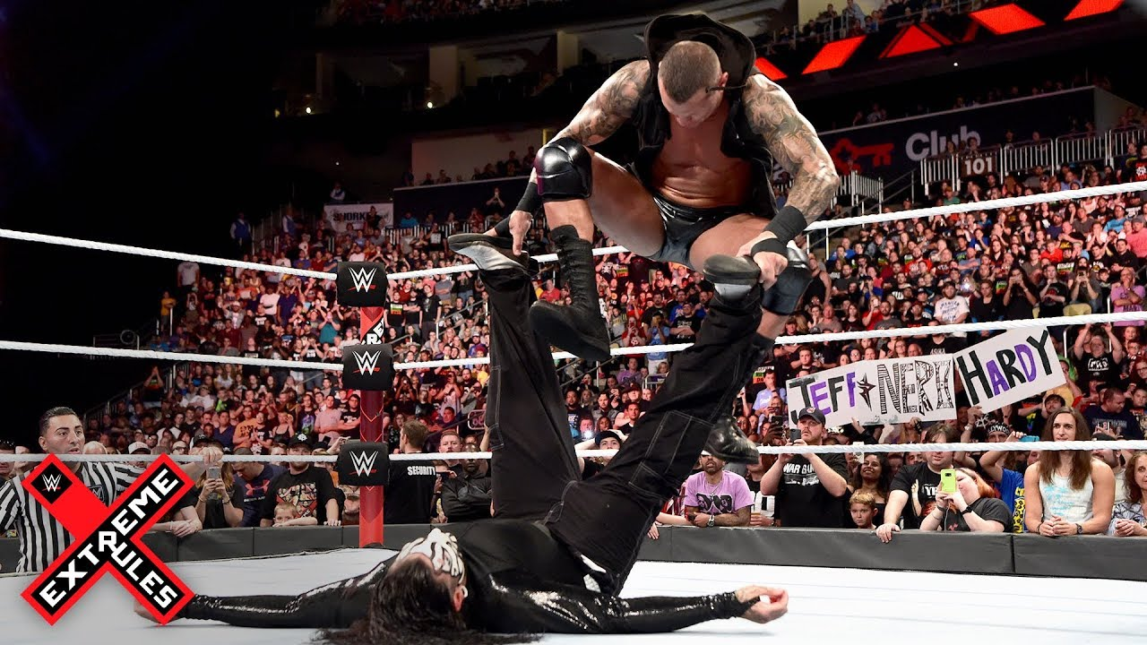 Randy Orton Brutally Stomps On A Defenseless Jeff Hardy Wwe Extreme Rules  Wwe Network
