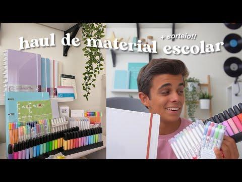 haul + sorteio de material escolar 2021 :)   ep. 1