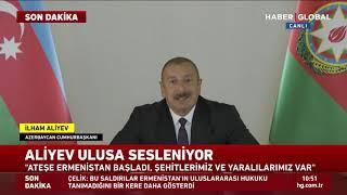 Azerbaycan Cumhurbaşkanı Aliyev Ulusa Seslendi! SON DAKİKA
