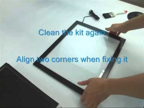 How to build cheap touch screen with touch screen conversion frame