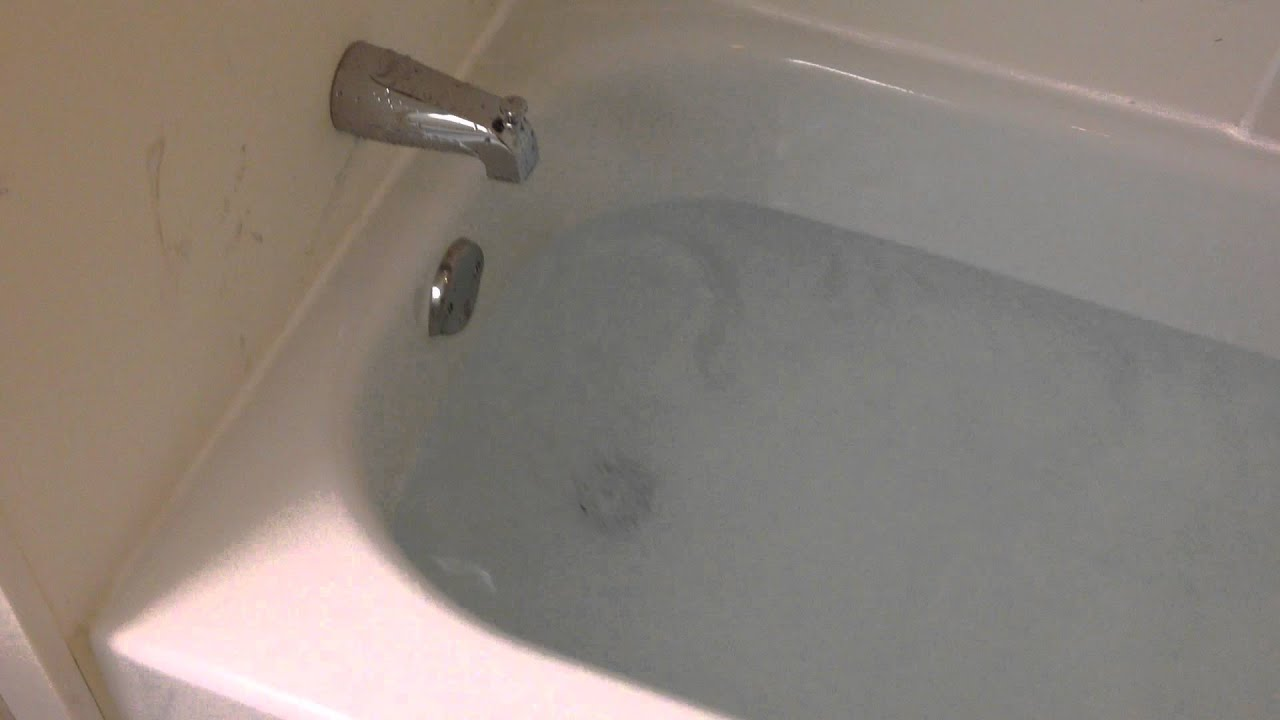 Draining a whole bathtub full of water - YouTube