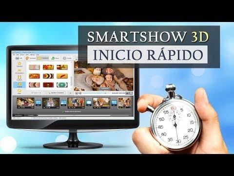 El mejor programa para crear videos con fotos, musica y efectos 3D: inicio rápido a SmartSHOW 3D