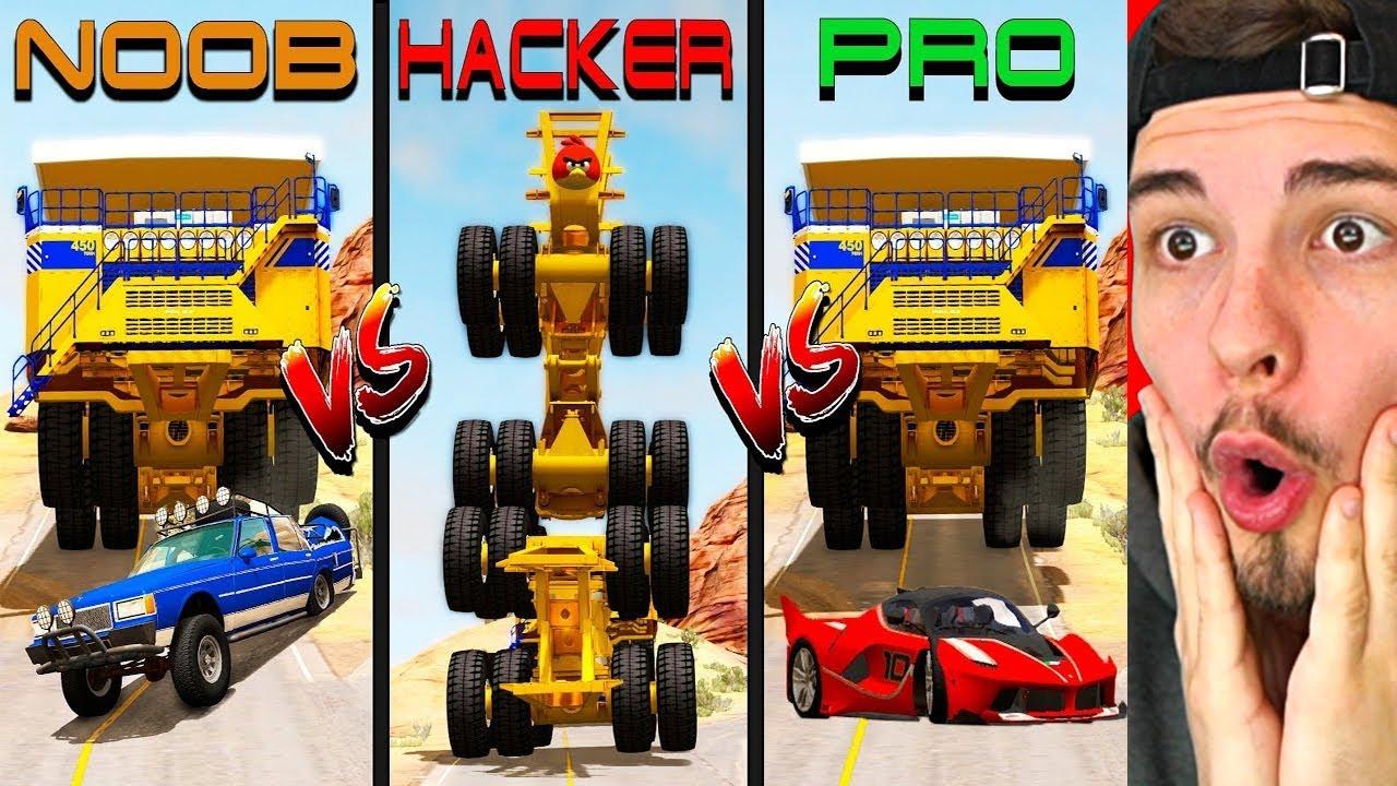 NOOB vs. PRO. HACKER CHALLENGE 5 (BeamNG Drive)